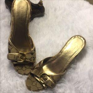 Coach Sandals Wedges Size 8